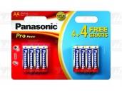 Baterie Panasonic PRO POWER AA, LR6, tužková, 1,5V, blistr 8 ks