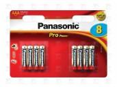 Baterie Panasonic PRO POWER AAA, LR03, mikrotužková, 1,5V, blistr 8 ks